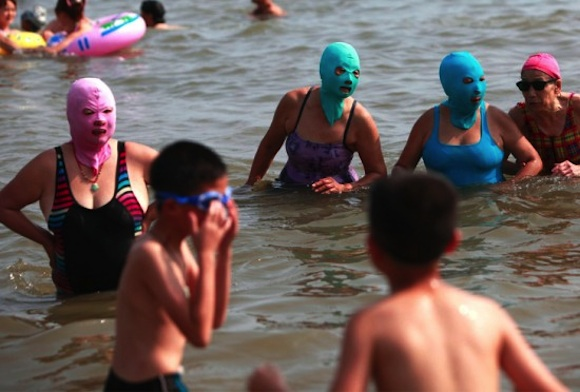 Facekini en China