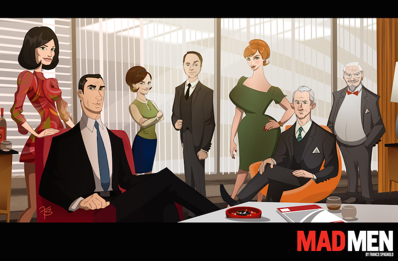Mad men por Franco Spagnolo