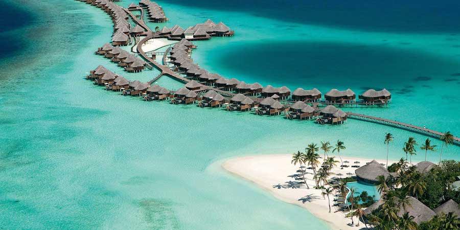 Vista aérea de las Islas Maldivas