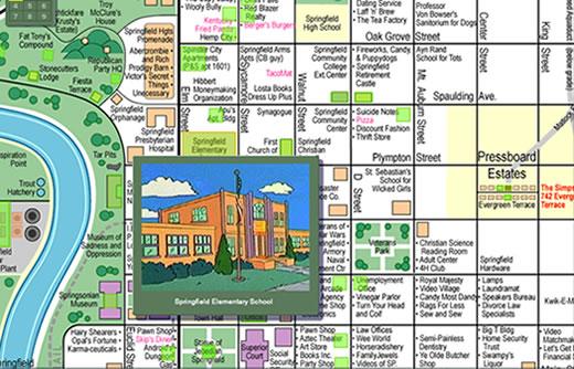 Mapa interactivo de Springfield