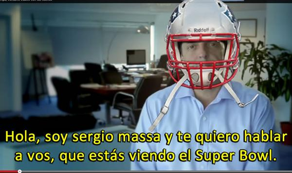 Massa y el Superbowl