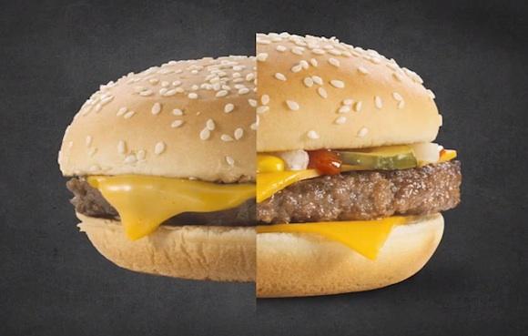 Las fotos de las hamburguesas de McDonalds