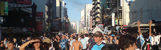 Racing en el obelisco