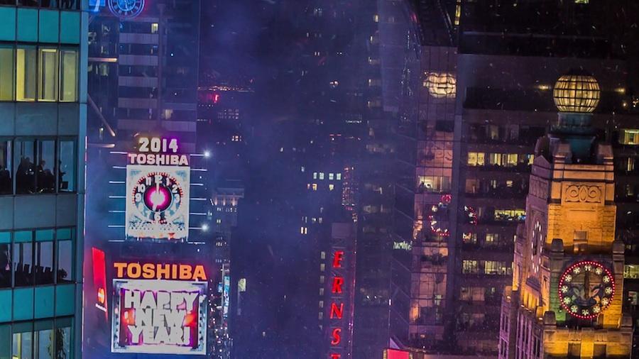 Año nuevo en Nueva York 2014: Timelapse en Times Square