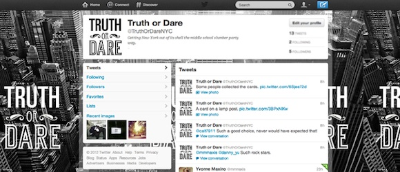 Truth or Dare New York en Twitter