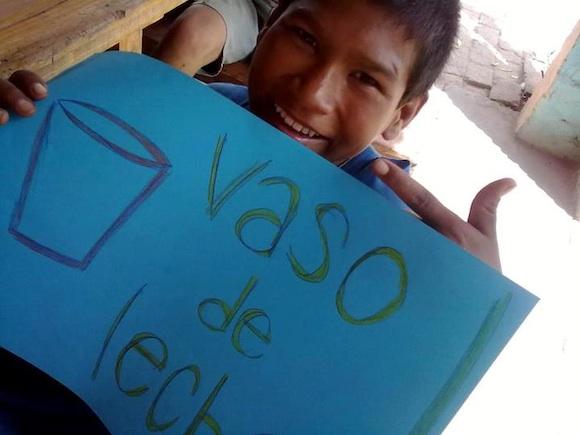 """Vaso de Leche: Hogar """"Aquí es"""" de Chaco"""