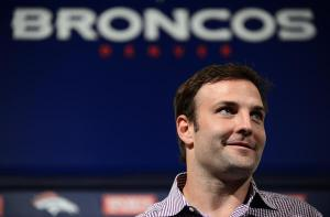 CENTENNIAL, CO. - MARCH 14: Denver Broncos introduced Wes Welker at Dove Valley. March 14, 2013. Denver, Colorado. Pro Bowl receiver Welker agreed to a two-year, $12 million deal with Broncos. (Photo By Hyoung Chang/The Denver Post)