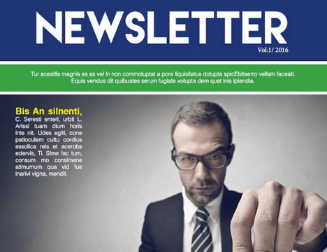25 Free Impressive Business Newsletter Templates for Download - company newsletter template free