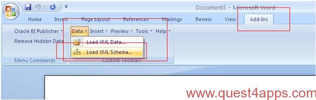 xml publisher report from xml data template quest4apps