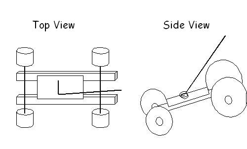 mousetrap cars side view diagram of the spring with lever arm