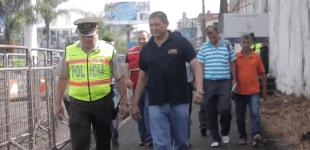 Alcalde recorrio zonas afectadas por sismo