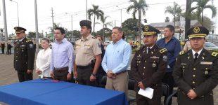 Autoridades presenciaron relevo del personal policial de operaciones