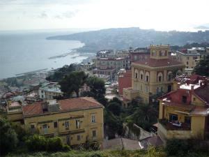 La ville et le Golfe ed Naples vus du château Sant'Elmo