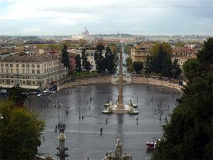 La Piazza del Popolo vue depuis la Villa Borghese
