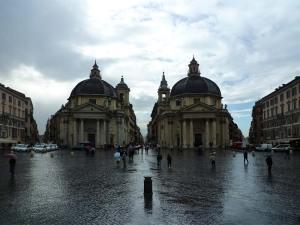 Les églises jumelles de la Piazza del Popolo