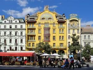 Le Grand Hôtel Europa, un des plus beaux édifices de la Place Venceslas