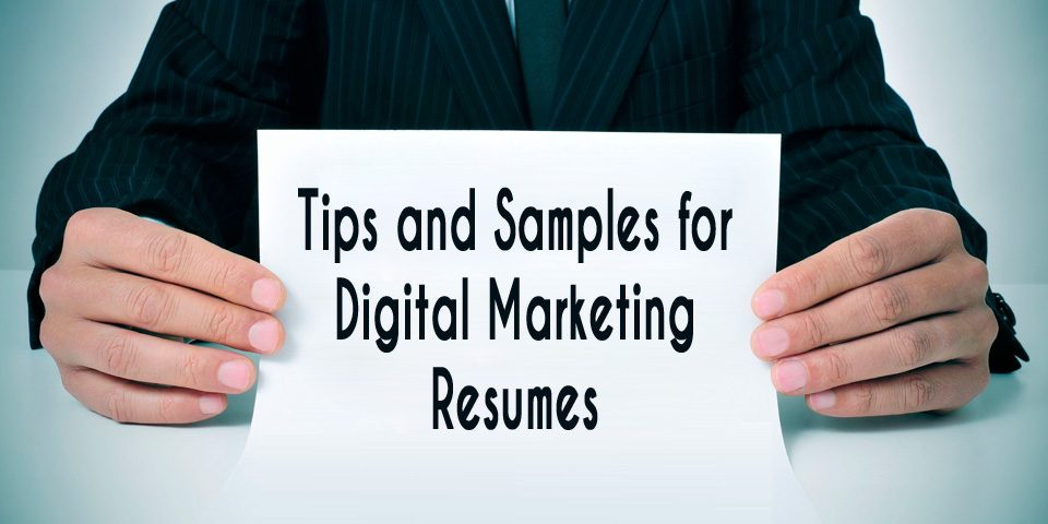 Digital Marketing Resume for Freshers, Executives and Managers