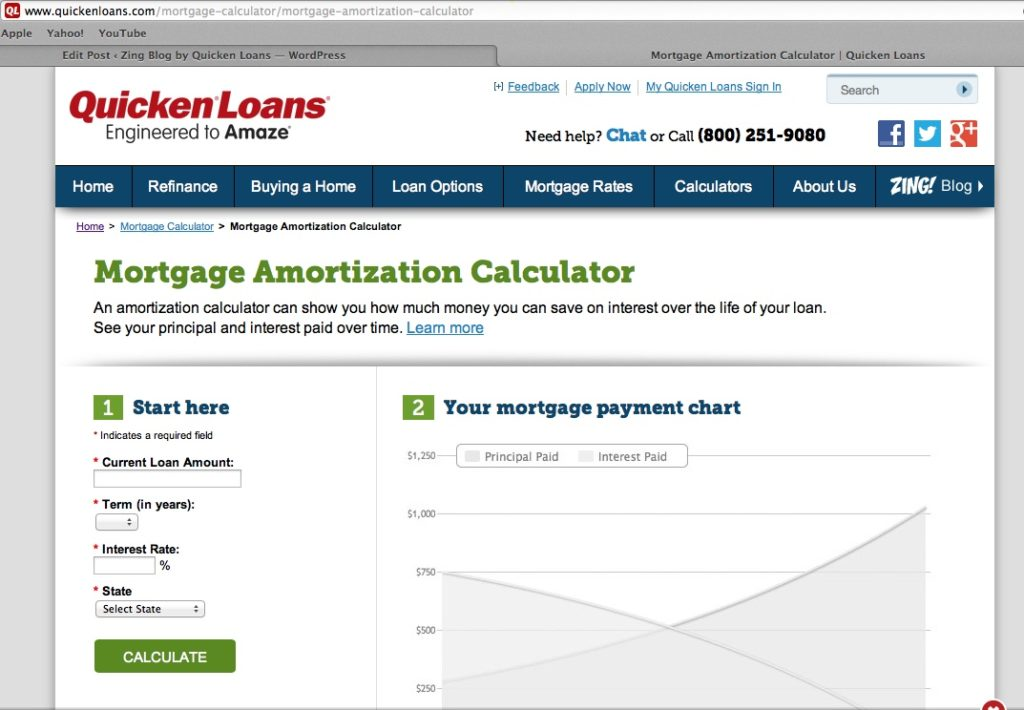 Mortgage Amortization Calculator - Quicken Loans Zing Blog - ZING