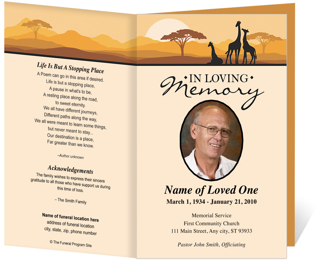 Memorial Pamphlet Template Free missing persons template – Funeral Template Free