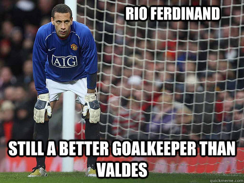 Girl Praying To God Wallpaper Rio Ferdinand Still A Better Goalkeeper Than Valdes