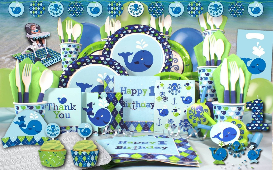 Blue Ocean Preppy 1st Bday Ultimate Box Welcome to www - blue and green birthday party
