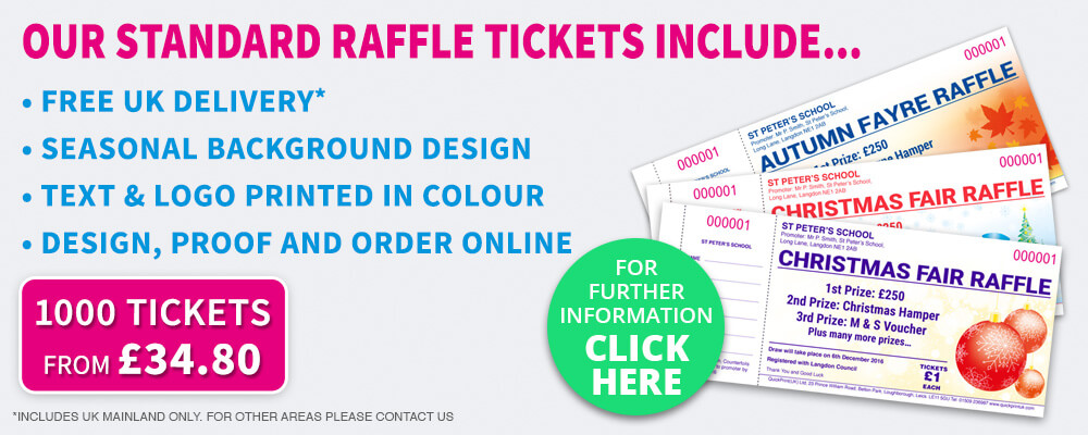 Raffle Ticket Printing Specialists - Amazing Value QuickPrint UK - raffle ticket prizes