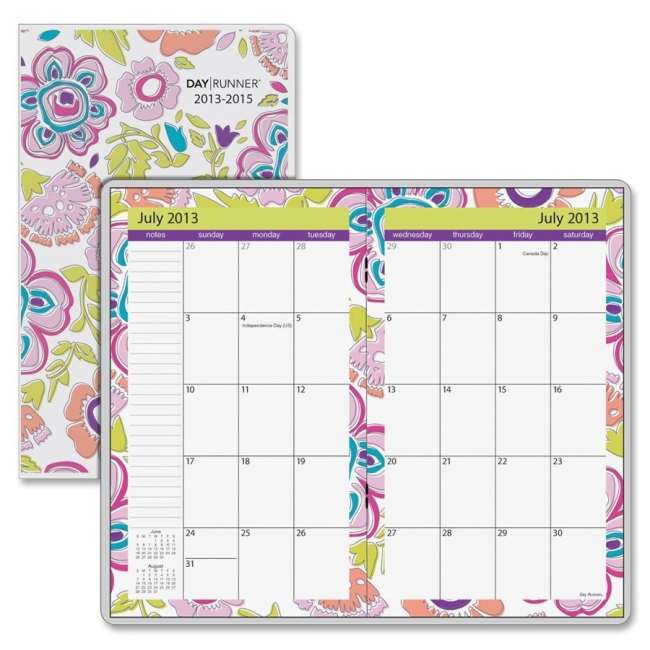 Mead At-A-Glance Good Vibes 2 year Monthly Pocket Planner - Monthly