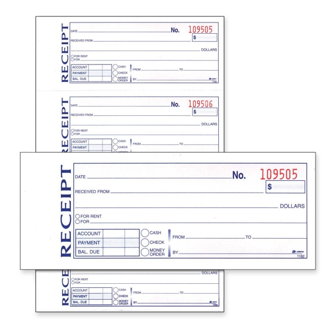 Doc595281 Sample Receipt Book FREE Receipt Books Templates – Where Can I Buy Rent Receipts