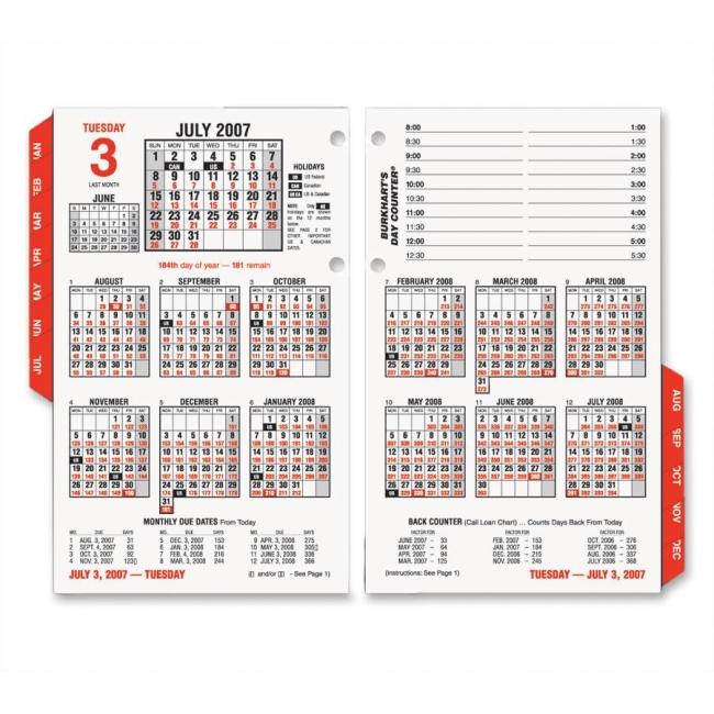 At-A-Glance Burkhart\u0027s Day Counter Daily Calendar Refill - Quickship
