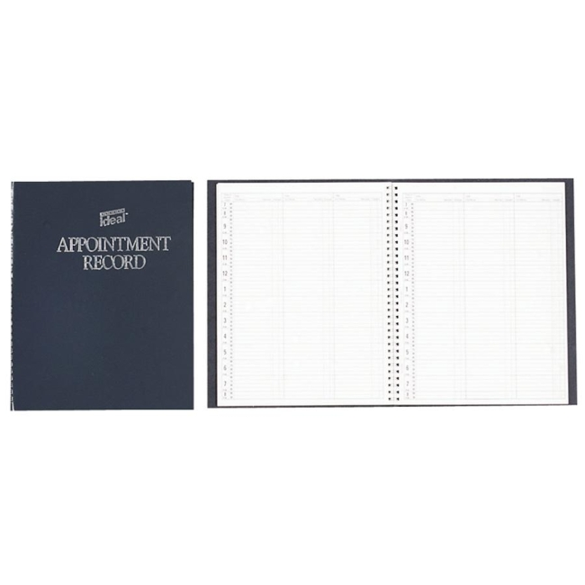 Dome Undated Spiral Appointment Book - Gray - Quickship