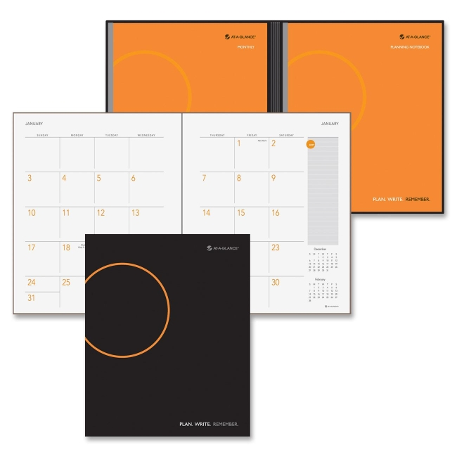 Mead At-A-Glance Daily/Monthly Planner  Notebook - Daily, Monthly - daily monthly planners