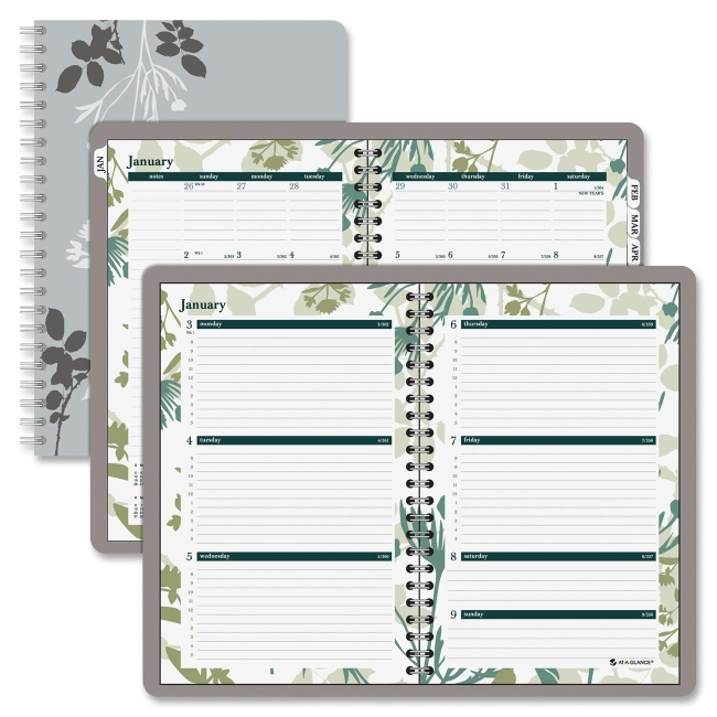 Mead Day Runner Botanique Desk Weekly/Monthly Planner - Weekly