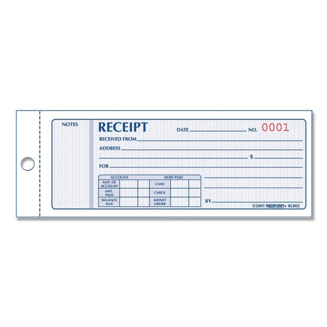 Rediform Money Receipt Collection Forms - Quickship
