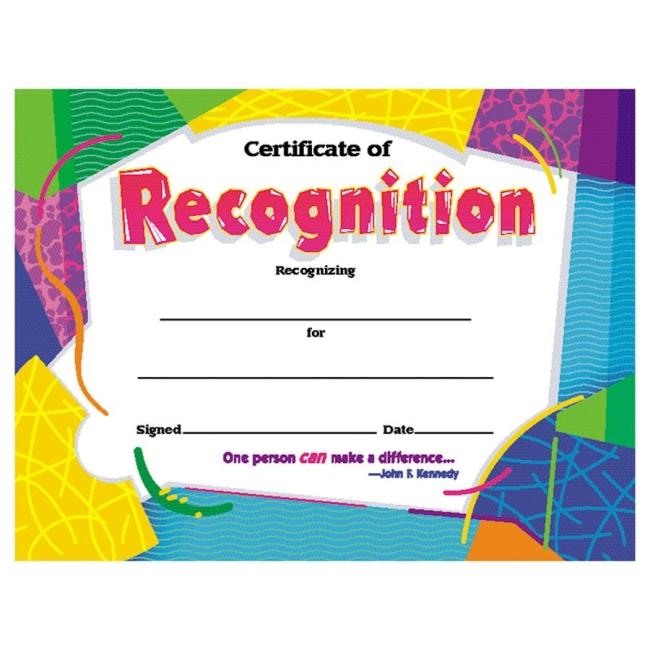 Trend Certificate of Recognition - Quickship