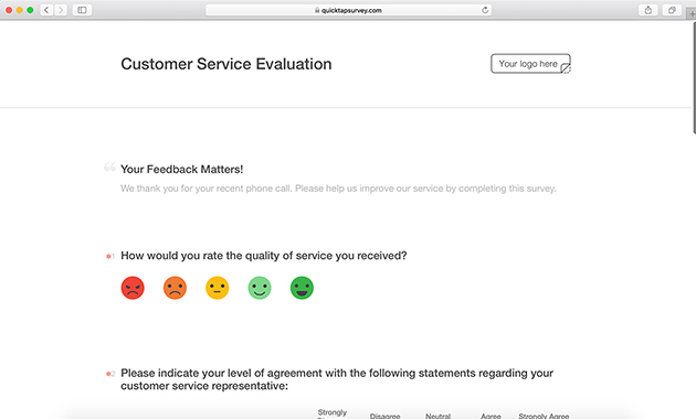 Mobile Evaluation Form Templates QuickTapSurvey