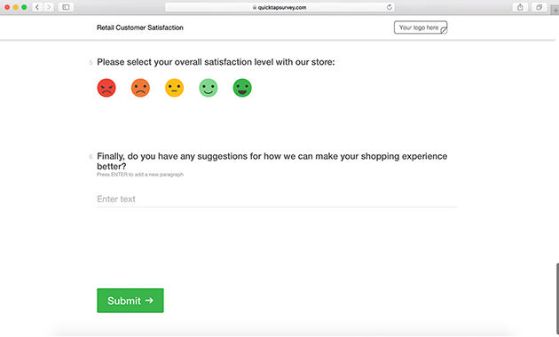 Retail Customer Satisfaction Survey Template QuickTapSurvey