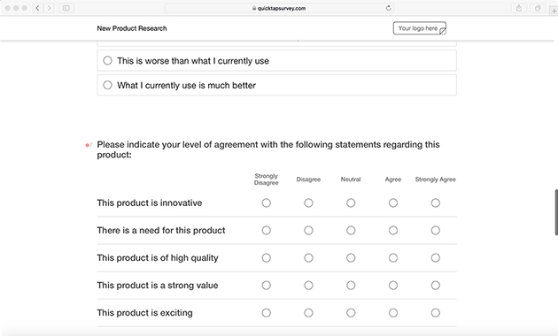 Online Product Research Survey Template QuickTapSurvey