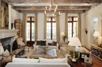 Living Room Designs With Exposed Beams - Quiet Corner