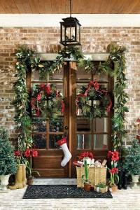 Christmas Double Front Door Decorations
