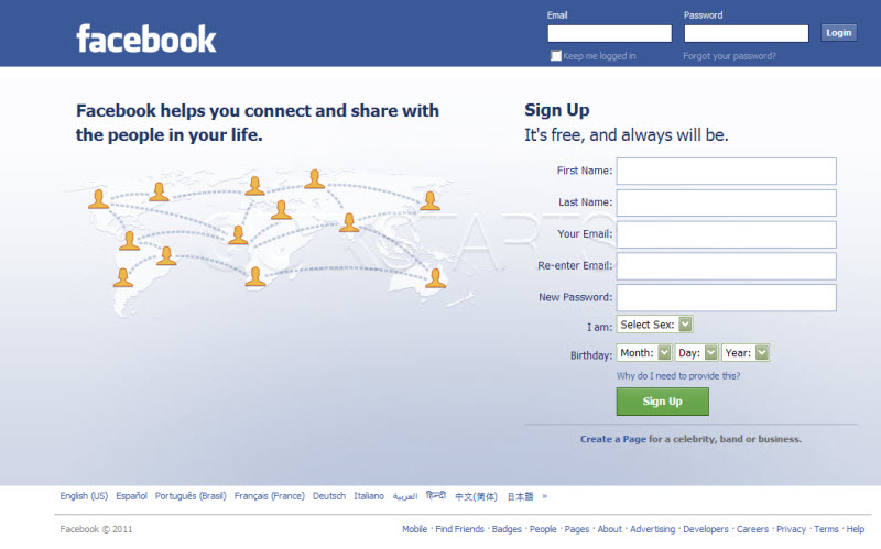 how to login to facebook