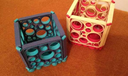 Retro Circle Quilled Candle Holder Tutorial