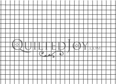 .5 inch Grid Machine Quilting Stencil