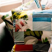 Summery patchwork cushions