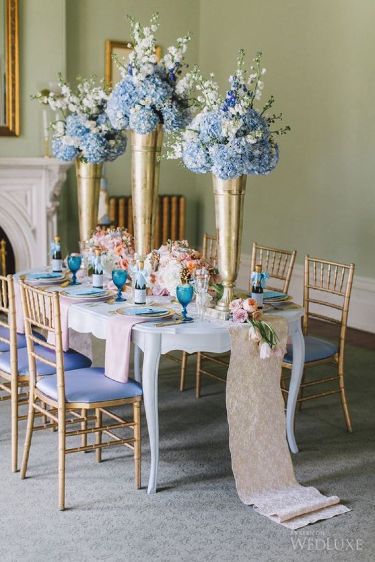 Add blue to your quince theme stunning combinations
