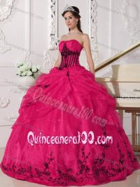 Quinceanera Pink And Black Dresses