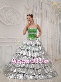Green and Silver Quince Dresses_Other dresses_dressesss