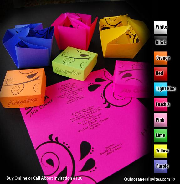 Box Quinceanera Invitations