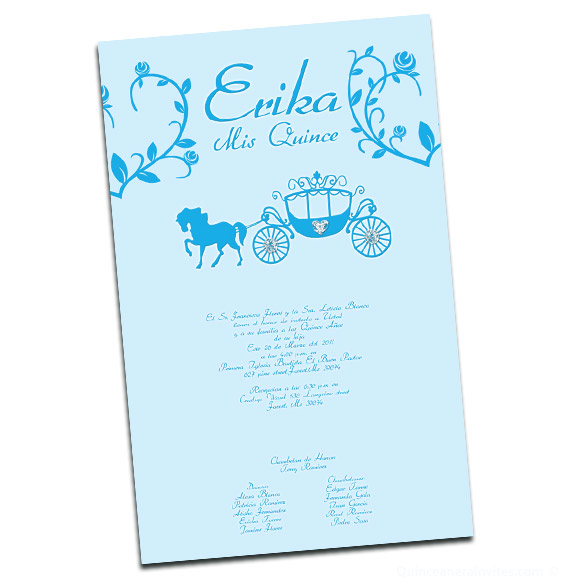 Cinderella Scroll Invitations