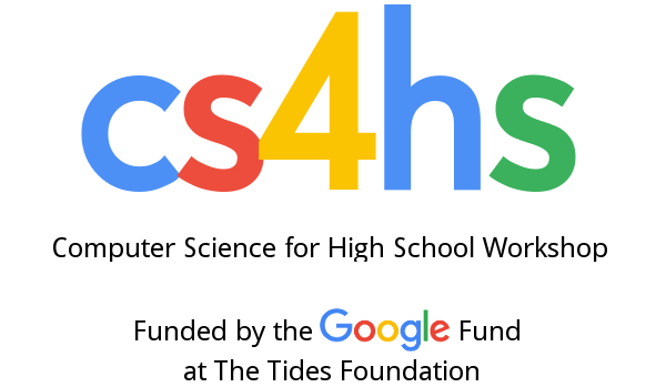 The Google CS4HS Grant went to the computer science department of Quincy University