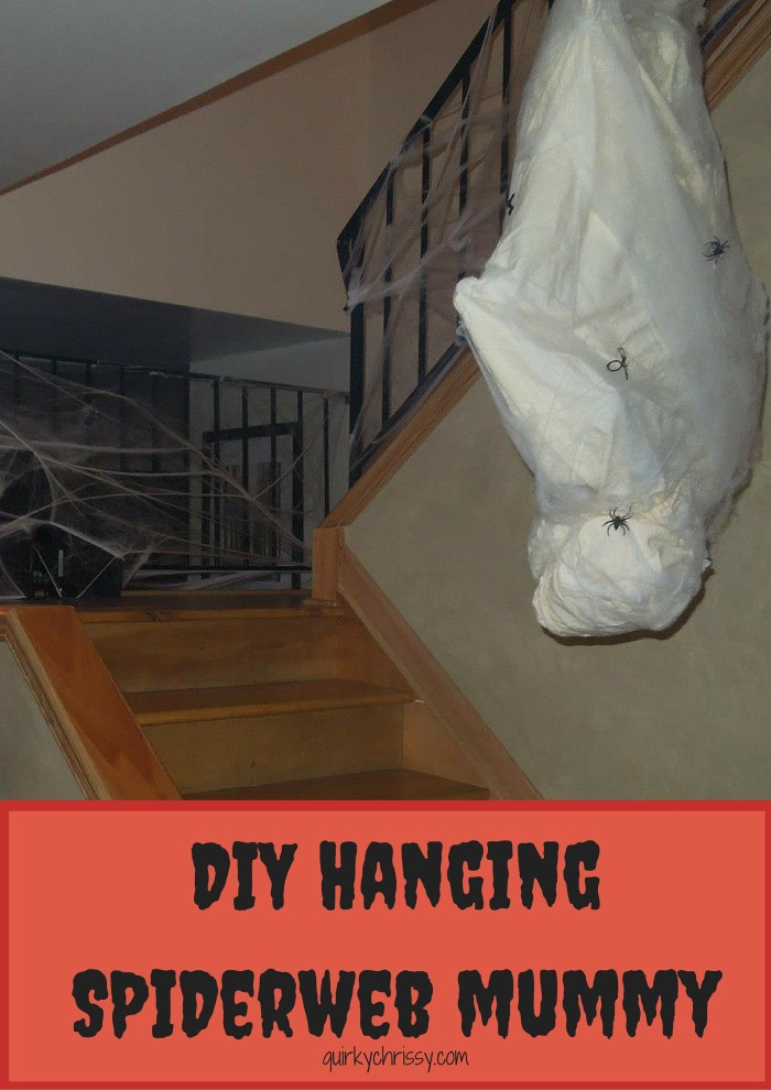 Diy How To Make Your Own Hanging Cocoon Man Halloween Decor